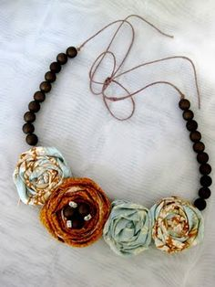 Rows of Rosette necklace