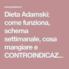 Dieta Adamski: come funziona, schema settimanale, cosa mangiare e CONTROINDICAZIONI