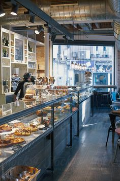 59 Ideas commercial office lighting design woods for 2019 Bakery Shop Design, Coffee Shop Design, Restaurant Design, Patisserie Design, Bakery Decor, Bakery Cafe, Bakery Shops, Cafe Interior Design, Cafe Design