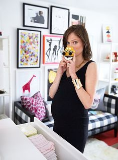 coco rocha's amazing nursery, featuring our little taxi rattle! #estella #kids #decor