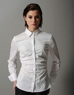 Ruching. roxanna fitted shirt with ruched centre by the shirt company | notonthehighstreet.com