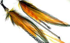 electrifyre earring . orange black silver