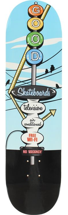 Good Skatebaords Motel Sky Skateboard Deck