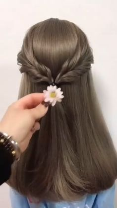 Easy Hairstyles For Long Hair, Braids For Short Hair, Cute Hairstyles, Braided Hairstyles, Wedding Hairstyles, Flower Girl Hairstyles, Hair Tutorials For Medium Hair, Medium Hair Styles, Curly Hair Styles