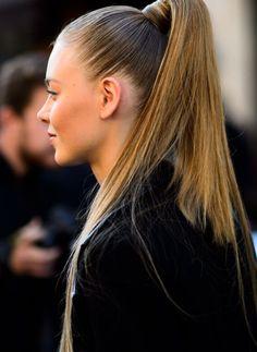 High pony seen at Paris Fashion Week.