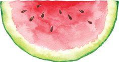 Watercolor Watermelon Slice - Dirty Dancing Party - New Watercolor Basic Painting, Watermelon Painting, Wreath Watercolor, Koi Watercolor, Watercolor Lettering, Watercolor Bird, Watercolor Whale, Watercolor Food, Water Painting