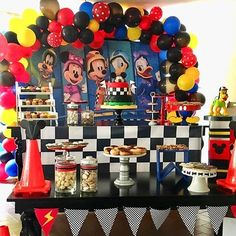 Birthday Party Tables, Boy Birthday Parties, 3rd Birthday, Mickey And Friends, Baby Party, Party Themes, Film, Instagram, Ideas