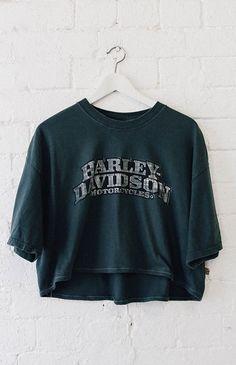 Mr Vintage | Vintage Harley Davidson Crop Tee - Charleston (XL) | Mr Vintage | Peppermayo