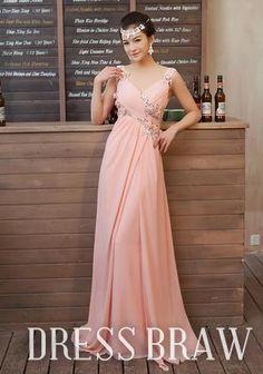 Gorgeous V-neck Sleeveless Floor-Length Prom Dress, 55% off on dressbraw!