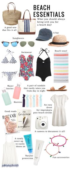 14 Essentials to Pack for the Beach From totes to hats to reading material, 14 essential items you need to pack for the beach. 14 Essentials to Pack for the Beach From totes to hats to reading material, 14 essential items you need to pack for the beach. Travel Bag Essentials, Beach Essentials, Travel Packing, Holiday Essentials, Packing List For Vacation, Travel Checklist, Travel Backpack, Travel Bags, Travel Ideas