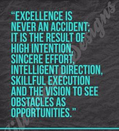 Excellence... #Success #vision