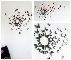 Schmetterlings- Wanddeko