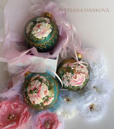 Christmas Ornament by LaivaArt on Etsy