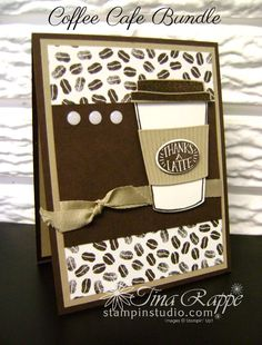 Stampin' Up! Coffee Break Suite, Coffee Cafe stamp set, Coffee Cup FramelitsStampin' Studio