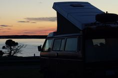 Westfalia at sunset - Isle de Madeline QC