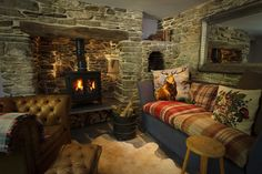 Tregulland Cottage in Cornwall Decor, House Design, Snug Room, Cottage Decor, Home Decor, House Interior, Old Cottage, Cottage Living Rooms, Cottage Living