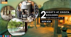Singita Boulders #Lodge is perfectly at home in its pristine setting and whether through walls of glass, animals can be seen and enjoyed from every angle, making for a truly immersive #safari experience. 2 Night's at singita boulders packages with very lowest prices. Book Now on http://bit.ly/2IxhTRy