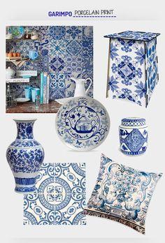 Os azulejos portugueses estão com tudo, na moda e no décor. Veja mais: http://www.casadevalentina.com.br/blog/detalhes/moda-+-decor--porcelain-print--3009  decor #decoracao #interior #design #casa #home #house #idea #ideia #detalhes #details #style #estilo #casadevalentina #moda #fashion #porcelain #porcelana #produtos #products
