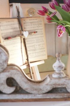 decorate with a hymn book
