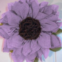 """Extra Large 30"""" Light Violet Burlap Sunflower Wreath - The Crafty Wineaux"""