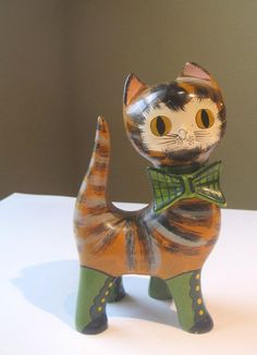 Cat Mexican Style Figurine