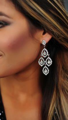 Rhinestone Dangle Earrings - Dottie Couture Boutique