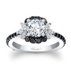 Black Diamond Engagement Ring - 7930LBKW