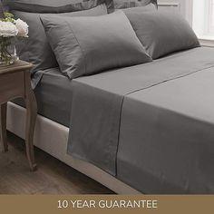 Dorma 300 Thread Count 100% Cotton Sateen Plain Slate Flat Sheet | Dunelm Plain, Cotton, Sheets, Home, Slate Grey, Sectional Couch, Bed Sheets, Dunelm, Flat Sheets