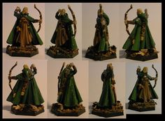 Elven ranger, Reaper Miniatures, from toe to top 33mm.  Yes, I know, biggest sin ever: glossy paint instead of matte lacquer. I will correct that as soon as i get my fingers on a proper finish.