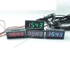 0.56 Digital Clock Temperature Voltage Led 12V/24V Car Electronic Time Voltmeter