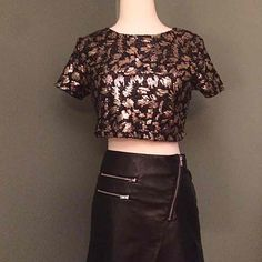 Sequin cropped blouse - Mercari: Anyone can buy & sell