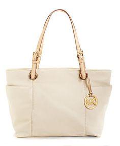 Cream Michael Kors Handbag