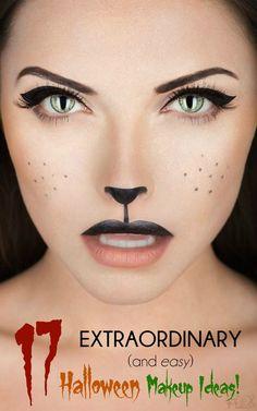 17 extraordinary and easy halloween makeup ideas - Halloween Makeup For Beginners
