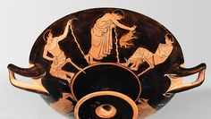 Antiphon Painter (fl. c. 500 - 475 CE), Metropolitan Museum of Art, New York 96.9.36 (previous) GR575 (current) (488/487-475 BCE; excavated at Tarquinia, Etruria, Italy). Red-figure cup. Side A.