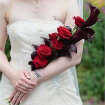 Rose bouquet from Derek Anson Photography Simple Wedding Bouquets, Red Bouquet Wedding, Red Wedding Flowers, Corsage Wedding, Bridesmaid Flowers, Bride Bouquets, Bridal Flowers, Rose Bouquet, Floral Wedding