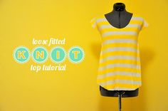 DIY loose fitted knit top - very easy to follow and short video tutorial! HUZZAH for DIY!