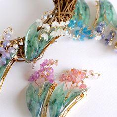 Wire Jewelry, Jewelry Art, Jewelry Design, Resin Crafts, Resin Art, Nail Polish Flowers, Shrink Art, Wire Flowers, Plastic Art
