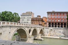 Bridge to Trastevere. How we used to get back to our apartment!!