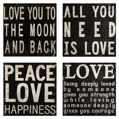 All you need is love - Love you to the moon and back