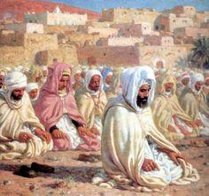 By Etienne Dinet Art And Illustration, Art Arabe, Middle Eastern Art, Arabian Art, Islamic Paintings, Historical Art, Arabian Nights, North Africa, Art Plastique