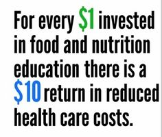 National Public Health Week - Public Health is ROI. Includes nutrition and physical activity information ~ 2 minute video.