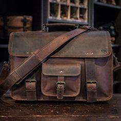 Roosevelt Vintage Leather Briefcase Bag