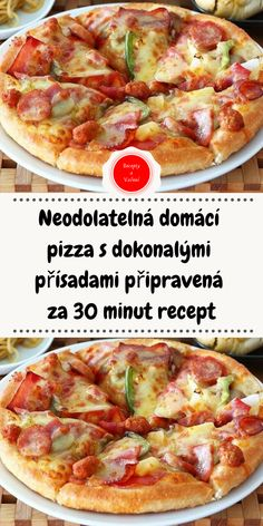 Hawaiian Pizza, Pizza Recipes, Finger Foods, Vegetable Pizza, Quiche, Food And Drink, Meat, Cooking, Kitchen
