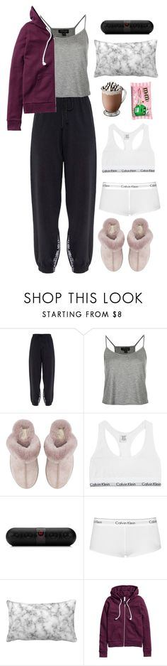 """Untitled #483"" by emmeleialouca on Polyvore featuring Topshop, UGG, Calvin Klein Underwear, Beats by Dr. Dre, Calvin Klein and H&M"