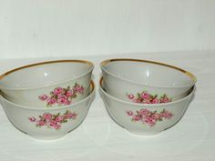 Vintage Soviet Set of Ceramic Dessert Bowls by Goodsovietthings, $18.00