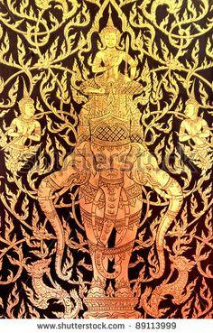 stock photo : background of the Thai art