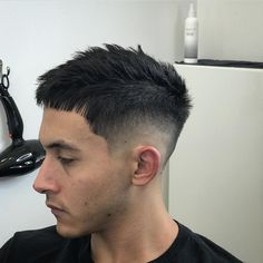 Updated June 21, 2017 For most men short haircuts and short hairstyles are the go-to look. That's because short hair is so easy to manage. Simply towel dry, use a small amount of hair product, work the hair into the
