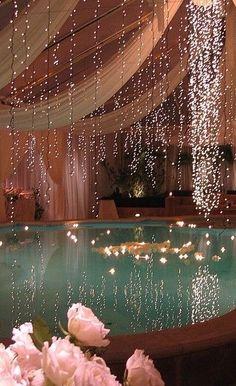 Tiny lights over pool / spa / tub... magical.