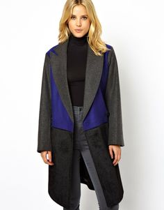 Wish we had this awesome ASOS Colour Block coat for Aussie FW six months ago..