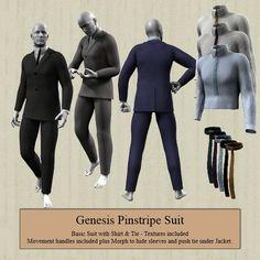 Genesis Pinstripe Suit makes my fellas feel handsome! :)
